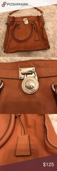 Soft leather Michael Kors purse Great color and such a cool bag to use year around! Minor flaws please see pics. Nothing major! Michael Kors Bags Shoulder Bags