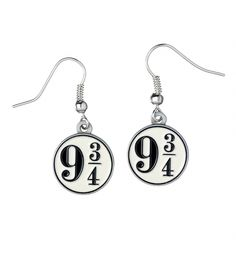 Go full steam ahead in the style stakes with this fabulous pair of #HarryPotter, Platform 9 3/4 drop #earrings! xoxo