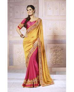 Buy yellow Kavyanjali Fancy Georgette at happydeal18.com, India's biggest shopping store