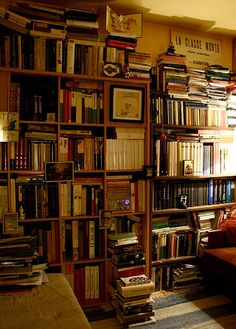 Home library. Nice old world feel.