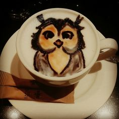 Incredible coffee art. Follow me