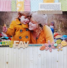 This is the kind of layout I aspire to make. Beautiful photos, nostalgic words, and lovely supporting products. #scrapbooking #studio_calico