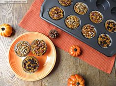 Personalized Pumpkin Baked Oatmeal Cups: Gluten Free and Diabetic Friendly
