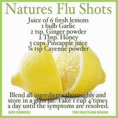 Natures Flu Shot - home remedy.