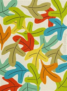 Forest Floor - mid century design art print by Pool PonyFrom poolponydesign