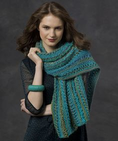 Tidal Wave Sampler Stole freebie knit, thanks so xox