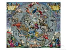 Map of Constellations, Northern Hemisphere, The Celestial Atlas, or the Harmony of the Universe Giclee Print by Andreas Cellarius at AllPost...