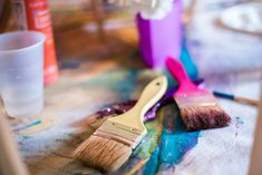 Paintbrushes used as