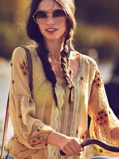 Braids and bike, via Free People