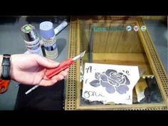 How to Make a Faux Etched Rose Mirror