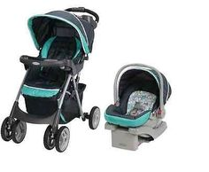 Car Seat Click Connect Travel System Fold Stroller Infant Lightweight Baby Comfy