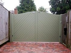 We have an extensive portfolio of Driveway Gate installations. Many of these Driveway Gates are electric and can be opened with remote control. Backyard Gates, Garden Gates And Fencing, Driveway Gate, Fence Gate, Fences, Garden Entrance, Garden Doors, Entrance Gates, Wooden Electric Gates
