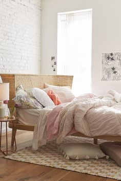 This bed looks like floating on a cloud Jens Woven Windsor Platform Bed - affiliate