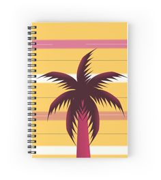 'Palm tree in stripes' Spiral Notebook by cocodes Summer Memories, Tropical Vibes, Palm Trees, Notebooks, Beautiful Things, Spiral, Shops, Stripes, Community