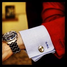 Monogrammed French cuff -  http://gntstyle.net