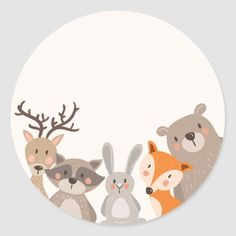 Shop Woodland baby shower favor tag Sticker Animals Fox created by Anietillustration. Baby Shower Favors, Baby Shower Decorations, Baby Boy Shower, Woodland Baby, Woodland Animals, Baby Shower Princess, Baby Kind, Baby Room Decor, Baby Room Art