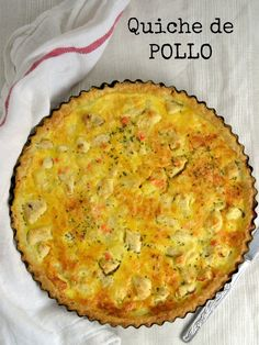 Comenzamos semana con una receta de las que a mi me gusta: Sencilla y deliciosa… Keto Quiche, Zucchini Quiche, Quiche Recipes, Real Food Recipes, Chicken Recipes, Cooking Recipes, Yummy Food, Healthy Recipes, Quiches