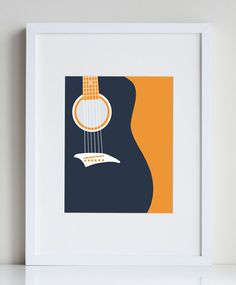 Bass Guitar Art Print Music Wall Cool For Boys Prints Minimalist