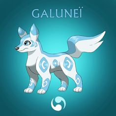 Gallunèi the ice wolf Pokémon. This Pokémon loves humans and the cold weather . If so it can battle in a fight only in the winter. Warm places are what it hates it would refuse to battle with you Ice Pokemon, Pokemon Fake, Pokemon Funny, Pokemon Memes, Pokemon Fan Art, Pokemon Fusion, Pokemon Eeveelutions, Original Pokemon, Pokemon Pictures