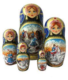Matryoshka Doll, Wooden Dolls, Artisanal, Art Boards, Artworks, Painting, Decor Crafts, Hunting, Fimo