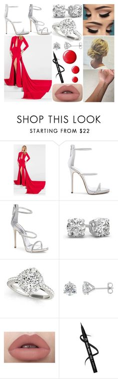 """Red Carpet"" by susanna-trad on Polyvore featuring Rachel Allan, Giuseppe Zanotti and Topshop"