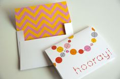 Baby Shower Printables (Editable Text): Chevron Polka Dot Party in pink, yellow, grey, coral. $13.00, via Etsy.