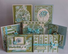 These are the beautiful cards she made with the OSW template.