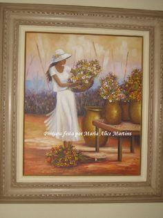 Pintura em tela - Florista