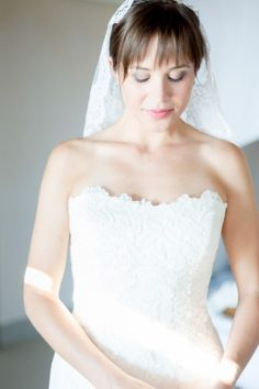 #EnzoaniRealBride Erica glowing in our Dakota gown! | Carats & Cake