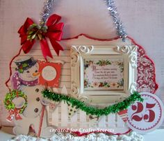 Cute Retro Snowman Christmas Wall Hanging by Diane Hover using Crafty Secrets CD 5 Creating with Retro Christmas.