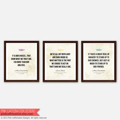 Harry Potter Inspirational Quote Prints Albus by PinkCaffeination, $72.00