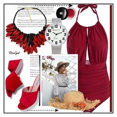 """Rosegal fashion set"" by erina-salkic ❤ liked on Polyvore featuring Edward Bess, Steve Madden, fashionset, polyvorefashion, worldwide, freeshipping and rosegal"