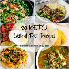 Delicious Keto Instant Pot Recipes. Food bloggers from around the US come to share their favorite Ketogenic diet friendly Pressure Cooker recipes! 29 Keto Instant Pot Recipes for you to try out.