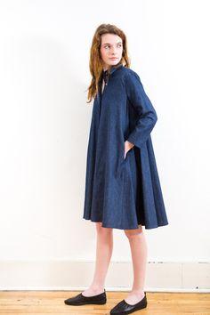 Mona Thalheimer Button Up Swing Dress