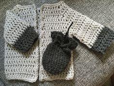 Hæklet baby cardigan og luffer