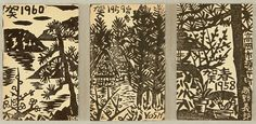 Yoshiro Koshino 1906-1973 - New Year's Greeting Cards - 1958, 1959 and 1960 Artelino