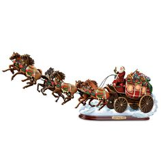 Dash Away ALL! Old Western Santa Holiday Sculpture