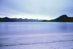 Dusk at Lake Pedder, SW Tasmania. 27th December, 1969.