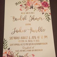 Our customers are the best of the world!! Not to talk about they great  taste for the invitations but just look how awesome Priscilla was to take a shot of her printed  Bridal shower invitation to show us how it turned on.. Awesome things are for awesome people. And they find each other. Period!  http://etsy.me/29QNn61