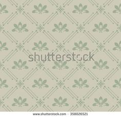 wallpaper for walls retro vintage seamless pattern - stock photo