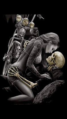 DGA Lovers Ride or Die Skull Motorcycle Queen Size Royal Plush Blanket Skeleton Love, Skeleton Art, Cholo Art, Chicano Art, Motorcycle Art, Bike Art, Dark Fantasy Art, Dark Art, Rauch Tattoo