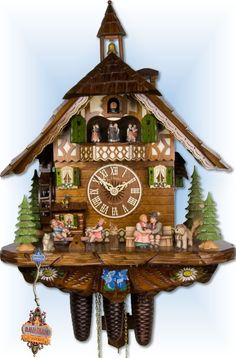 Adolf Herr Happy Family cuckoo clock 21'' - Bavarian Clockworks