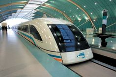 The fastest train in the world!! The Shanghai Maglev had a top speed of 380km/h! That's 267mph!!