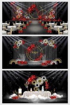 Big red new Chinese wrought iron personality custom wedding effect map Wedding Stage Design, Wedding Stage Decorations, Backdrop Decorations, Backdrops, Chinese New Year Design, New Chinese, Chinese Wedding Decor, Wedding Photo Walls, Wedding Drawing