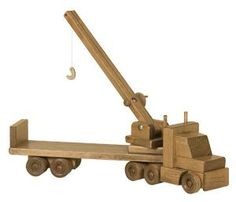 Handcrafted Wooden Toy Truck with Crane