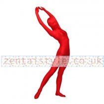 Full Body Red Lycra Spandex Back Zipper Zentai Suit