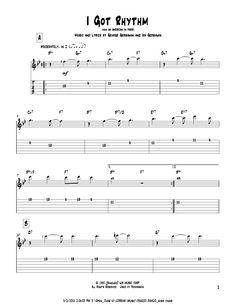 George Gershwin: I Got Rhythm - Partition Tablature Guitare - Plus de 70.000 partitions à imprimer !