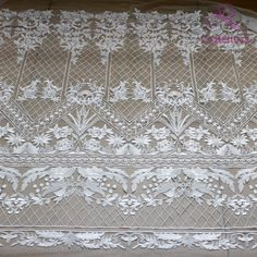 Off white polyester netting with gold or silver mylar embroidery Lots of 2 yards each