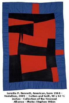 """Medallion"" quilt by Loretta P. Bennett, Gees Bend, AL."