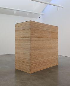 "Martin Creed (b. 1968) ""Work No. 841"", 2007. 1/4 in plywood, 2.4 x 1.2 x 2.4 m"